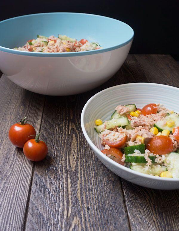 rijstsalade met tonijn - Great Little Kitchen #rijst #tonijn #salade