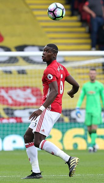 Paul Pogba of Manchester United in action during the Premier League match…