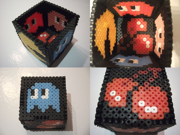 Pac Man Pencil Holder - Hama Beads