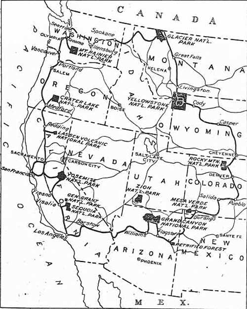 map of park to park highway 1912 Gotta Go Pinterest