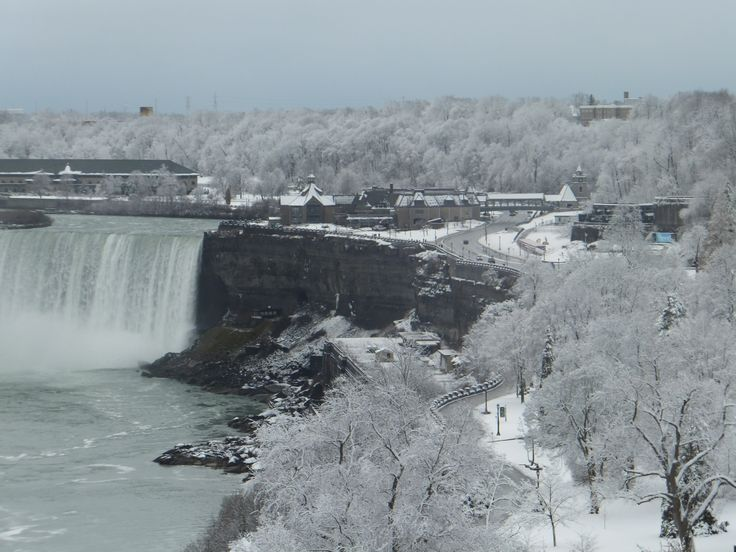 Niagara Falls from the Fallsview Restaurant located in the Sheraton on the Falls