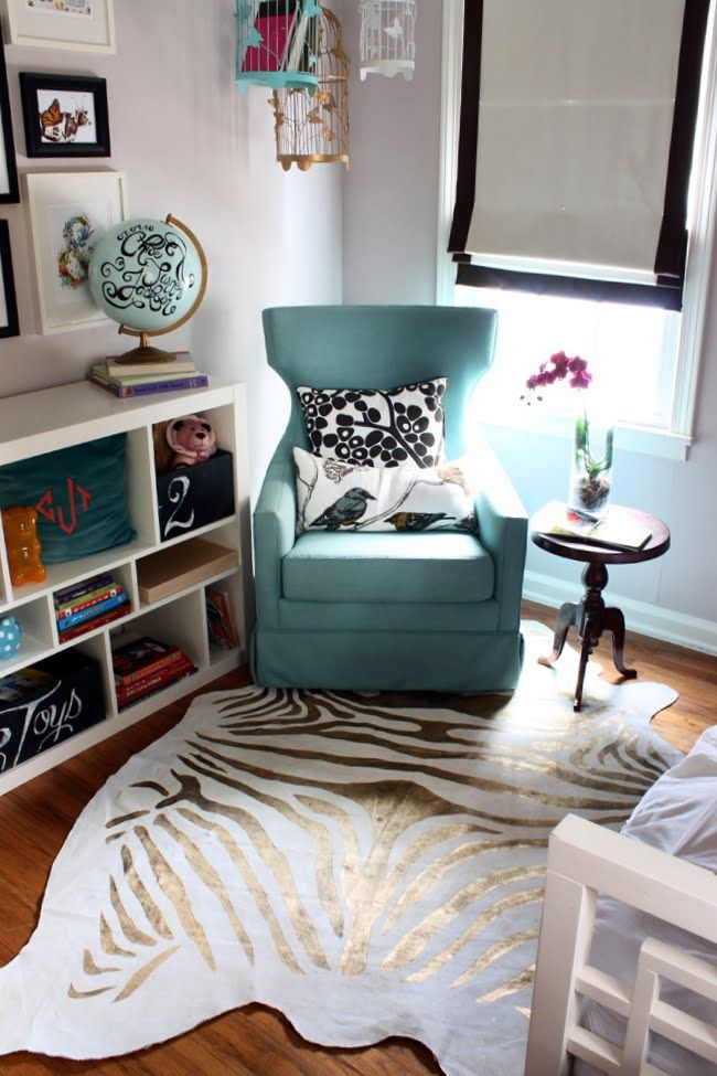 Painted Zebra Rug #DIY