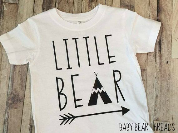 (Madds)Little Bear Baby Bodysuit Kid Shirt Arrows by BabyBearThreads