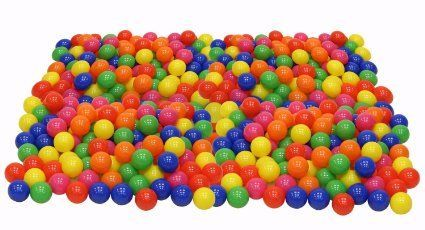 Amazon.com: Click N' Play Pack of 100 Phthalate Free BPA Free Crush Proof Plastic Ball, Pit Balls - 6 Bright Colors in Reusable and Durable Storage Mesh Bag with Zipper: Toys & Games