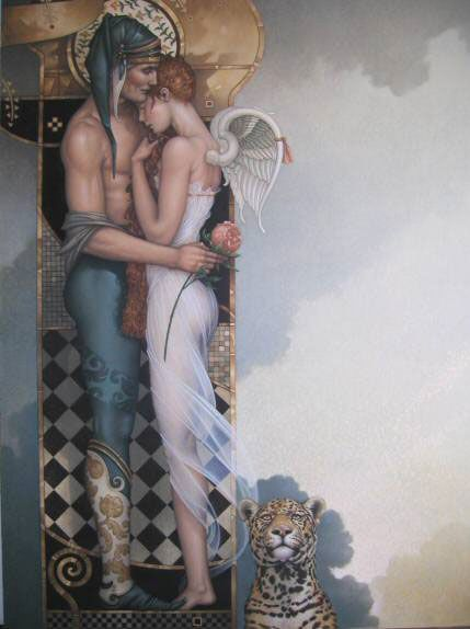 """""""The Last Peony"""" by Michael ParkesFavorite Artists, Inspiration, Red Hair, Parks Art, Michael Parkes, Michael Parks, Angels, Michaelpark, Peonies"""