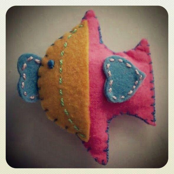 Renkli balık magnet :)