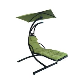Garden Treasures Green Polyester Single Hammock Chair with Stand