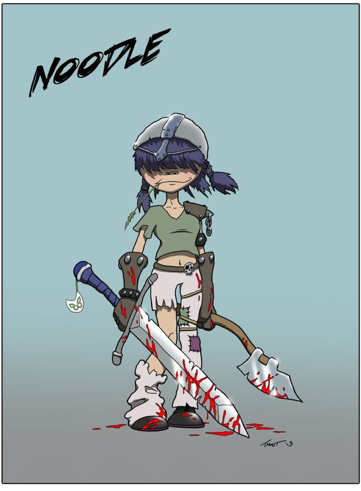 Okay I admit it! I wasn't drawing Goblins just now! I was drawing Noodle! I'M SORRY, OKAY?! @gorillazband