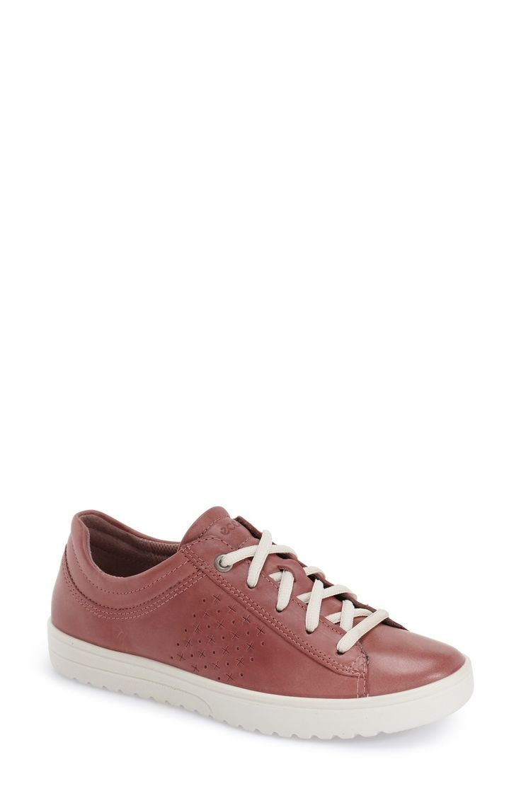 Free shipping and returns on ECCO 'Fara' Sneaker (Women) at Fashiondoxy.com. A smooth leather upper with textured detailing at the sides distinguishes a stylish sneaker built with anatomical arch support for all-day comfort