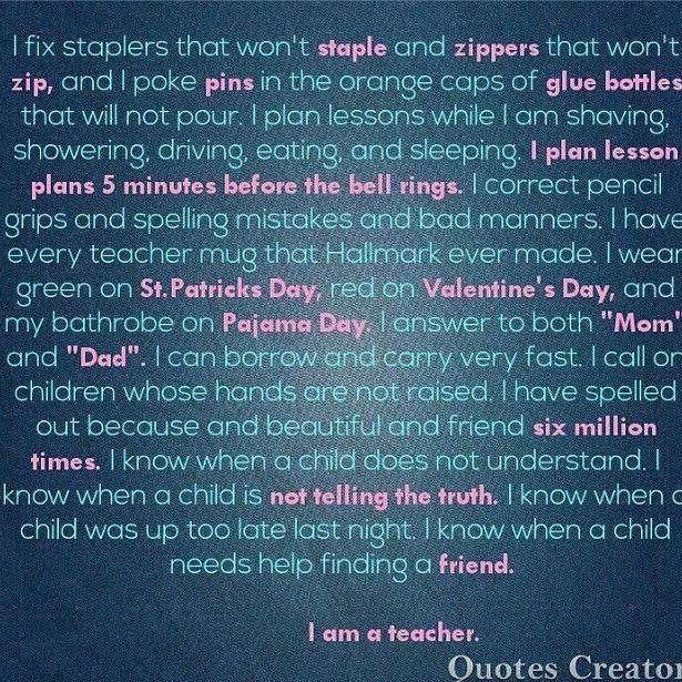 i am a teacher 💕  📷 @easyteachingtools  .  #teacherpassion    #Regram via @misstessclassroom