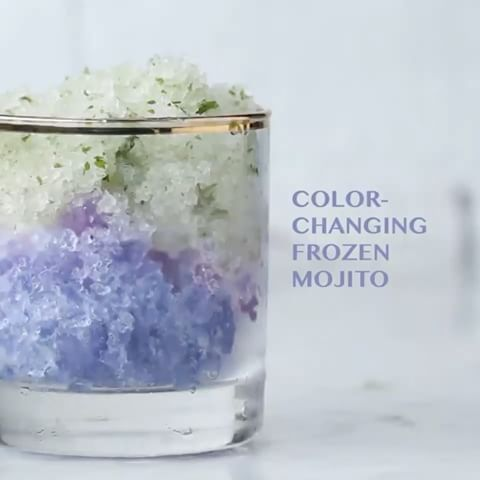 This color-changing frozen mojito is gonna BLOW YOUR MIND 😧!!!