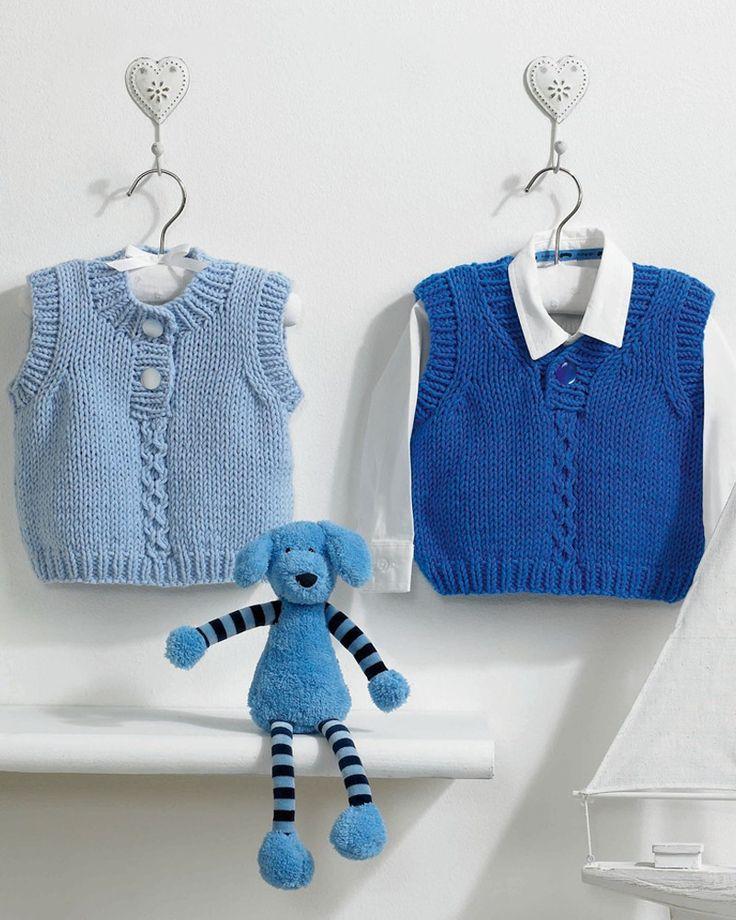 'Jack & Jill' Slipovers | Knitting Fever Yarns & Euro Yarns
