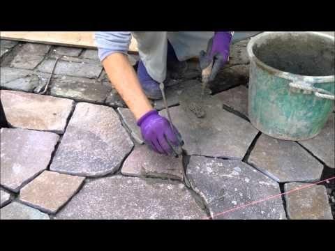 神奈川県 戸塚区 石貼りの技~目地はどうやって作るのか??秘訣がわかりますよ~ - YouTube