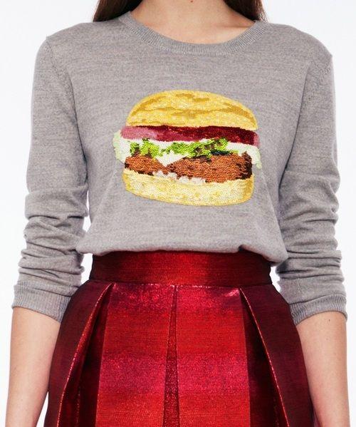 Markus Lupfer Resort 2013 Lookbook: Fashion Statement, Veggies Burgers, Resorts, Fans, Saia Mini-Sequins, Markus Lupfer, Burgers Sweaters, Hamburg Sweaters, Burgers Tees