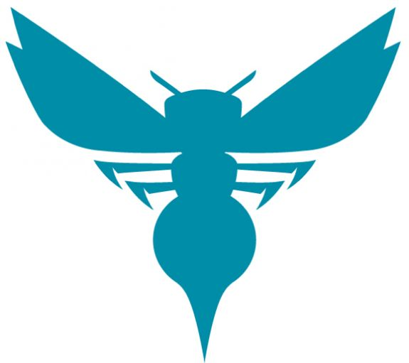 With all of the angles and straight lines in the wordmark, it's not reminiscent at all of the old Charlotte Hornets. Description from boards.sportslogos.net. I searched for this on bing.com/images
