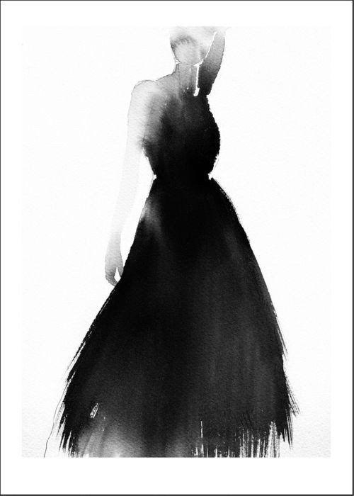 Magdalena Tyboni - Lady Black (50x70cm)