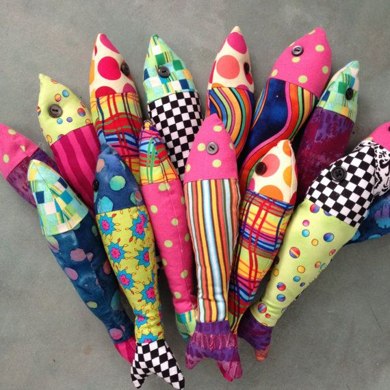 Funky Fabric Fish by debdidit on Etsy