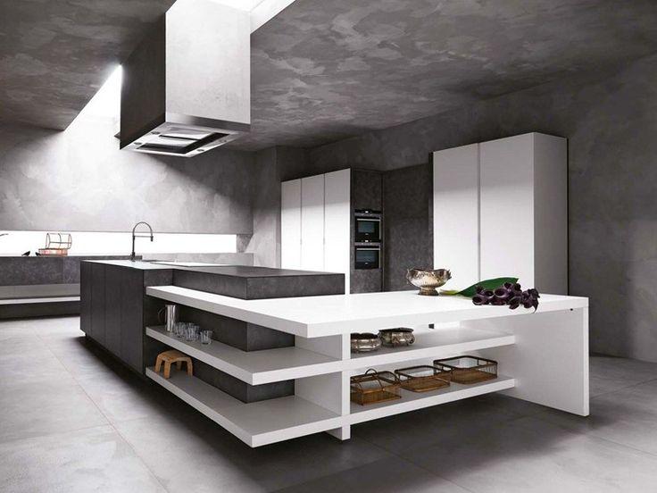 Stone Kitchen With Island ELLE   COMPOSITION 1 By Cesar Arredamenti Design  Gian Vittorio Plazzogna