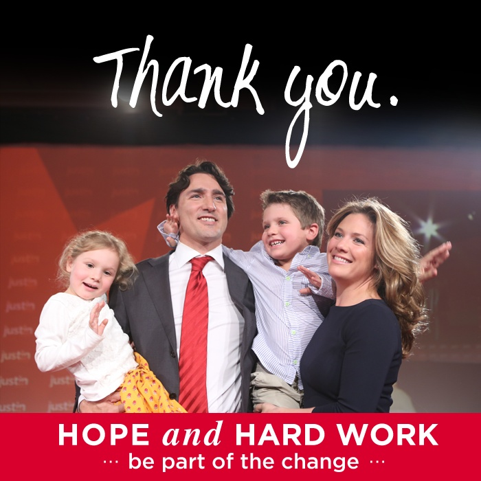 Justin Trudeau his wife Sophie and kids