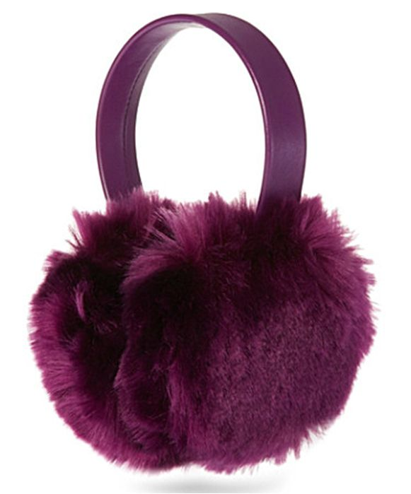 Purple Puffball Ear Muffs by Blanche in the Brambles