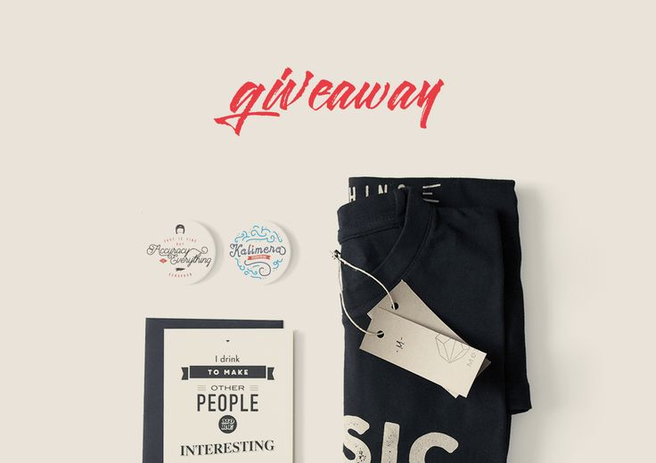 Join ourgiveaway and win amusic tee by Plato, two pins designed with vintage typography (kalimera and Accuracy pins) and one card with quote on by Ernest Hemingway after a draw!One lucky winner!… #giveaway #november