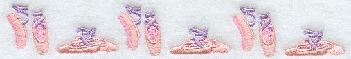 Ballerina Slippers Border design (A1819) from www.Emblibrary.com