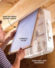 big air filter/cleaner for workshop  sawdust projects in horse barns too.