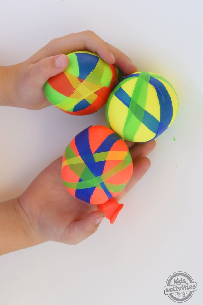How to make these fun wacky balloon balls. Kids love playing with these!