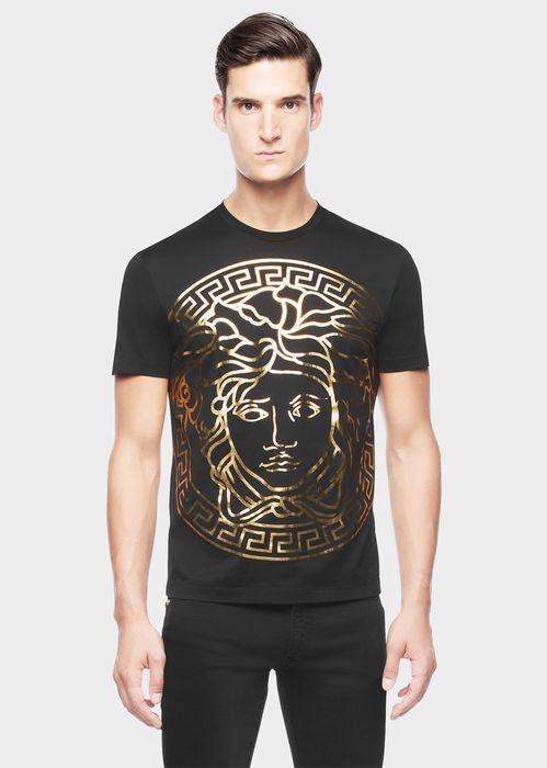 VERSACE Medusa Head embossed t-shirt. #versace #cloth #medusa head embossed t-shirt