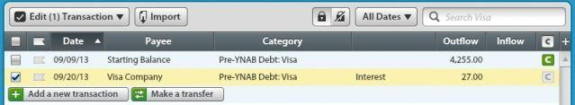 Credit Card Interest and Fees   YNAB
