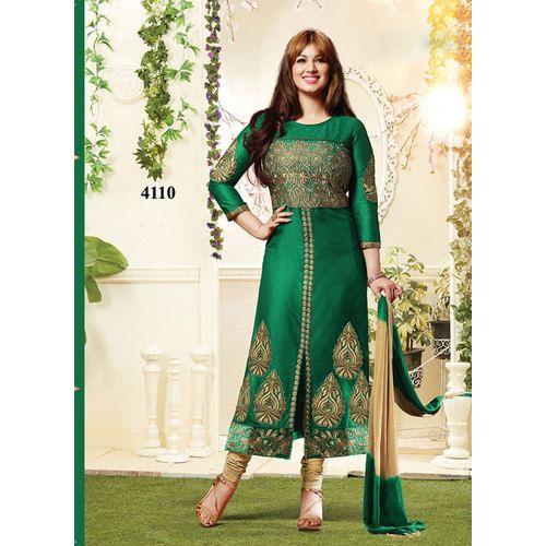 Shop Zaparia International Ayesha Exclusive Designer Green Churidar Salwar Kameez by Zaparia International online. Largest collection of Latest Salwar Suits online. ✻ 100% Genuine Products ✻ Easy Returns ✻ Timely Delivery