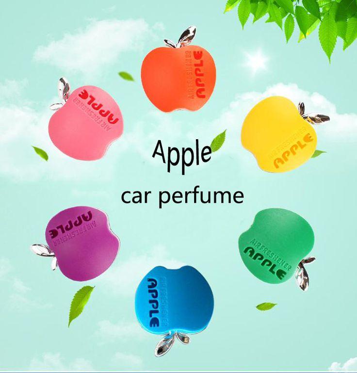 Peinado con Sabor En El Perfume Del Coche perfume del coche 100 Original Apple Forma Ambientador de Aire Del Coche Para VW Ford Kia Renault 1 unids