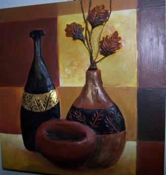 Cuadro para cocina comedor, con cerámica hecho en JuliartexPerú. Tamaño 30x30 cm