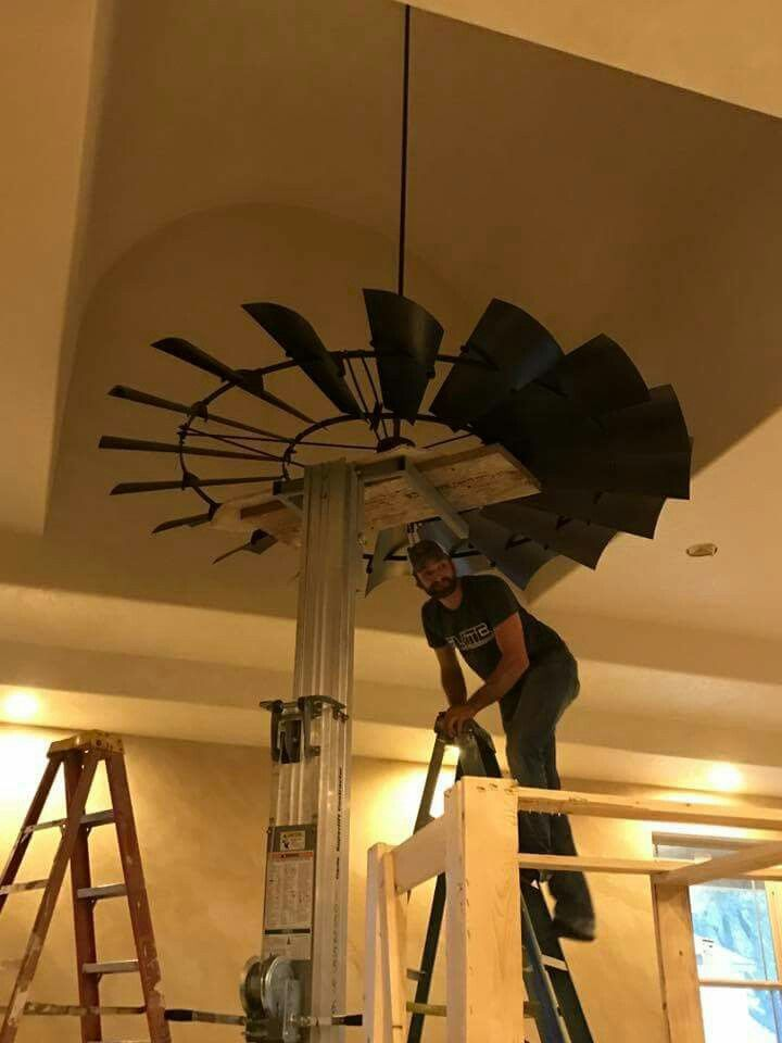 light oiled windmill ceiling oak products shades fan weathered bronze of rustic