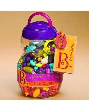 Navlékací korále a tvary Pop Arty B.toys