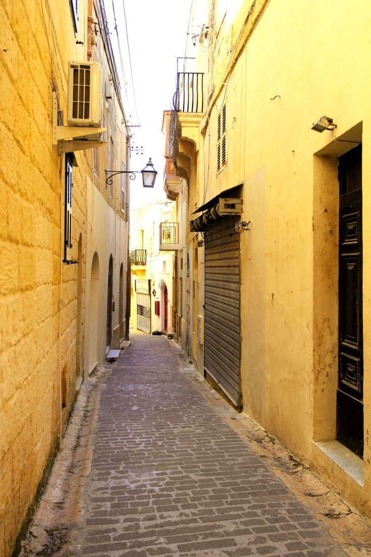#Victoria #Gozo #Malta #lonely #street