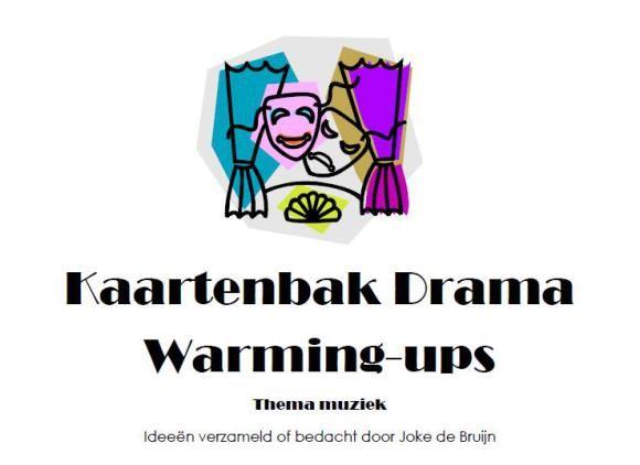 Kaartenbak Drama Warming-upspelletjes thema Muziek
