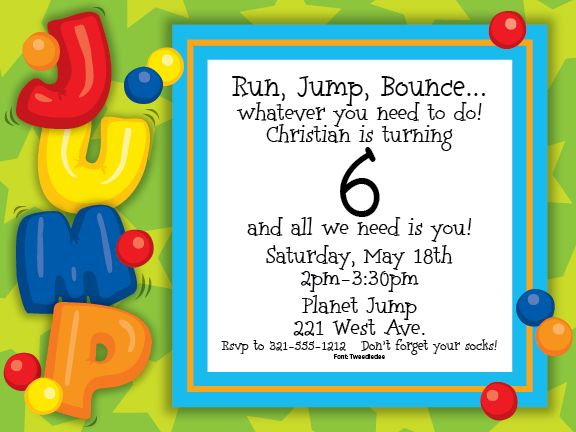 Bounce party invitation wording juvecenitdelacabrera bounce party invitation wording stopboris Images