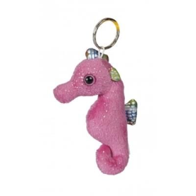 Image of Promotional Seahorse Keyring. 10 cm Pink Seahorse
