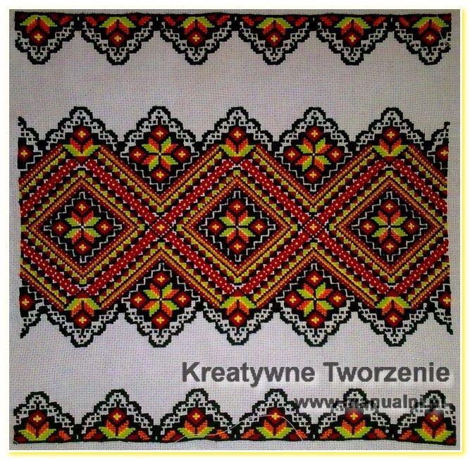 wyszywane poduszki haft krzyzykowy wzory ukrainskie (14)