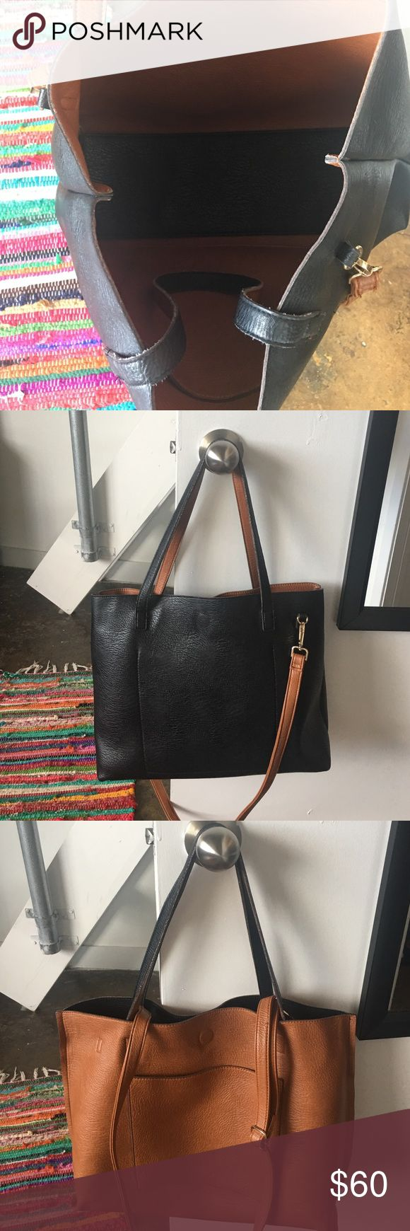 Urban outfitter purse Black or tan urban outfitter purse it comes with a removable long strap so you can carry it short or long! It is such a neat bag perfect condition just don't use anymore! Urban Outfitters Bags Crossbody Bags