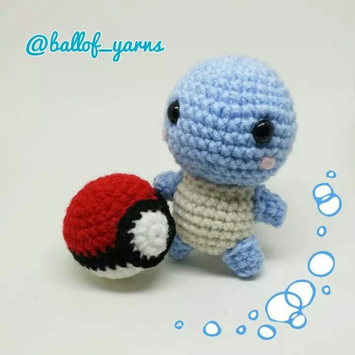 #Pokémon #squirtle is ready to play  #pokeball #amigurumi