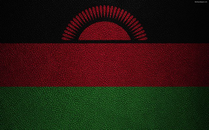 Download wallpapers Flag of Malawi, 4k, leather texture, Africa, Malawi flag, flags of African countries, Malawi