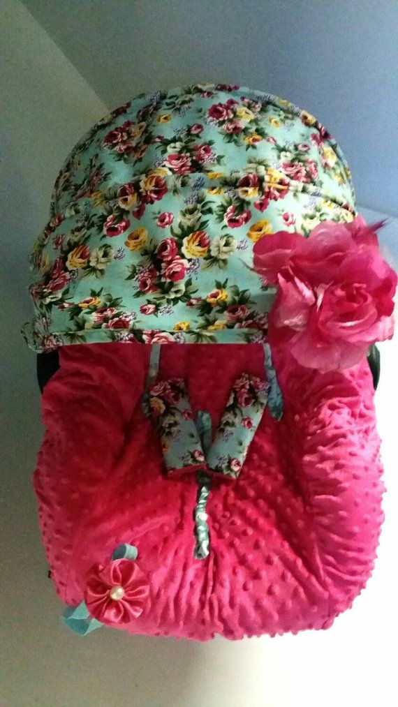 Baby Car Seat Cover Canopy, Infant Car Seat Cover Canopy, Floral Print, for Baby…