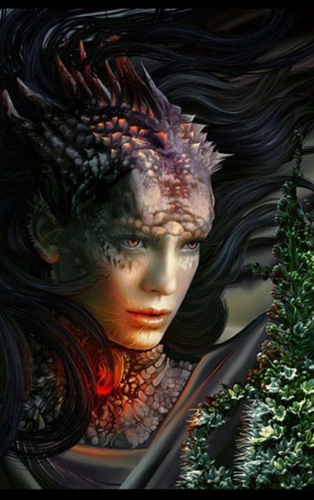 Dragon queen, light fae, fantasy art