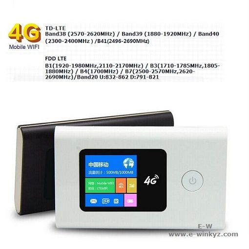 4G Mobile Wifi router support TD-LTE and FDD-