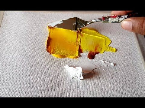 (81) Simple Abstract Painting / Easy Fillet Technique / Acrylic / Demonstration – YouTube