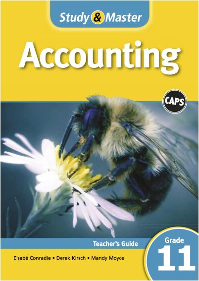 FORMAT: PDF  LICENCE PERIOD (DAYS): Perpetual  DESCRIPTION: Study & Master Accounting Grade 11 has been especially developed by an experienced author team according to the Curriculum and Assessment Policy Statement (CAPS). This new and easy-to-use course helps learners to master essential content and skills in Accounting. The comprehensive Learner's Book includes; case studies which deal with issues related to the real world; and move learners beyond the confines of the classroom - margin…