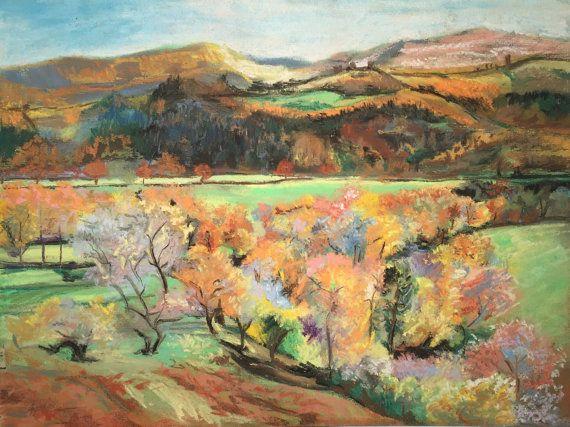 Shropshire Hills in Autumn Fine Pastel Art Work by FinePastelKB