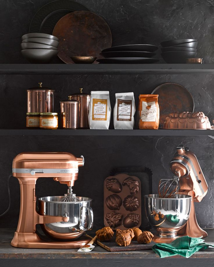 Crushing on this copper stand mixer.
